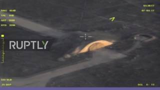 Syria: MoD release drone footage of Shayrat Airbase following US airstrike