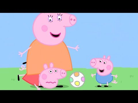 Peppa Pig in Hindi - Piggy in the Middle - Gendh ka Khel - हिंदी Kahaniya - Hindi Cartoons for Kids