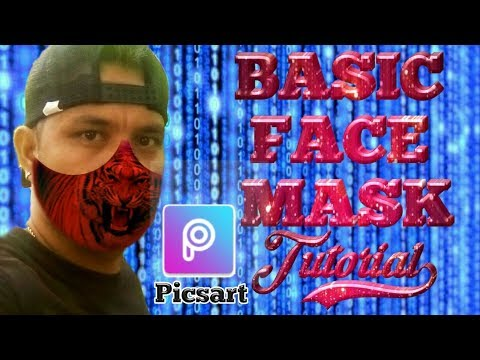 BASIC FACE MASK How To Edit Step By Step Tutorial PICSART APPS: