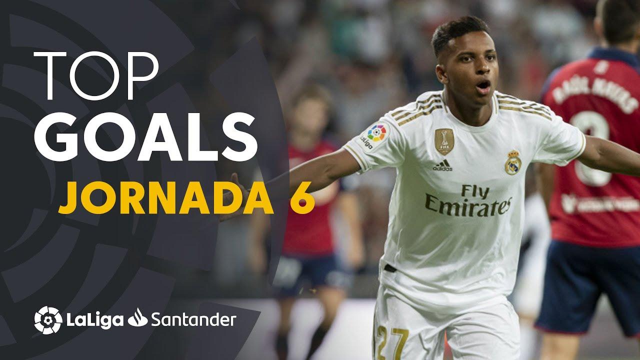 Todos Los Goles De La Jornada 6 De Laliga Santander 2019 2020 Youtube