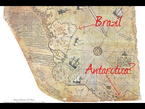 FLAT EARTH BRITISH,,Piri Reis maps(1513) & Antarctica free from ice,
