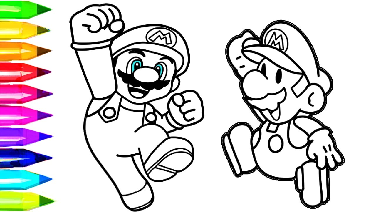 Vibrant image pertaining to printable mario coloring pages