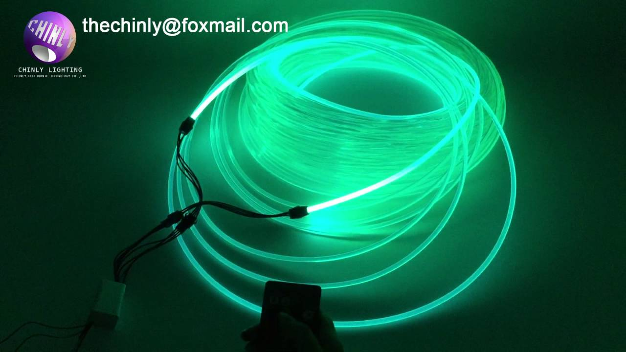 100meters 5.0mm Side Glow Fiber Optic Cable for car light & 100meters 5.0mm Side Glow Fiber Optic Cable for car light - YouTube