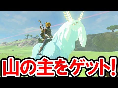 【ゼルダの伝説 BotW】山のヌシ「サトリ」をゲット!光る馬を手なづけて走り回ってみた!精霊ルミーの親玉は馬宿に登録できるのか?ゼルダの伝説 ブレス オブ ザ ワイルドの攻略動画