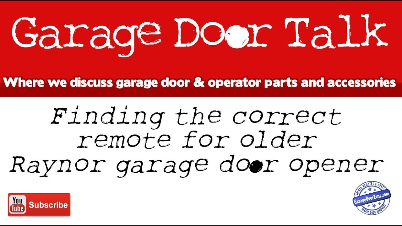 Finding a remote for your older raynor garage door opener youtube finding a remote for your older raynor garage door opener rubansaba