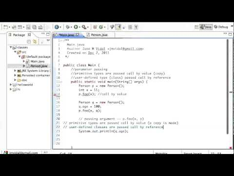 Java Parameter passing: Call by Reference and Value Tutorial