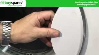 how to replace the door catch and door latch on an indesit or hotpoint tumble dryer