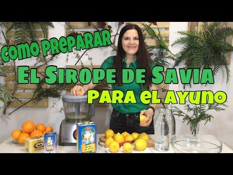 Como se prepara el sirope de savia y limon para el ayuno