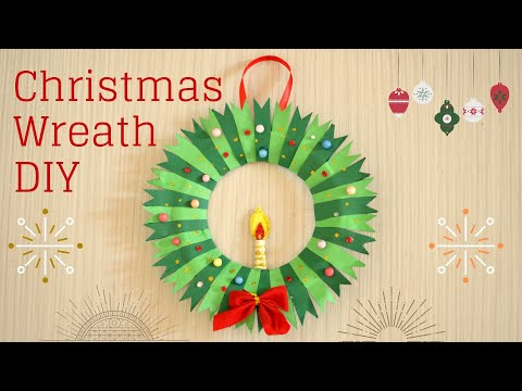 DIY How to Make Christmas Wreath from Paper & Disposable Plates | DIY Paper Crafts Xmas Decor 2018