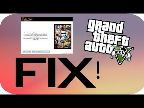 (FIX) Grand Theft Auto v pc rockstar update service is unavailable error