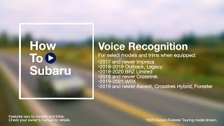 homepage tile video photo for How to Use Your Subaru Voice Recognition