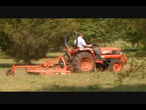 Aaron Engages PTO for Rhino Rotary Cutter wmv
