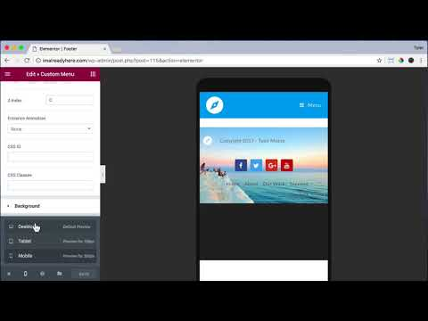 Create a Footer Using Elementor & OceanWP #28