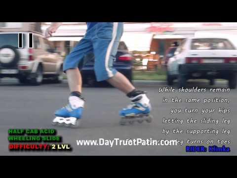 Slide Trick - Kỹ thuật trượt patin phanh Half Cab Acid Wheeling Slide - www.DayTruotPatin.com