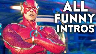 INJUSTICE 2 ALL Funny Intros Dialogues Funniest Character Banter Interaction