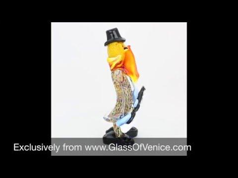 Murano Glass Clown   Www.GlassOfVenice.com
