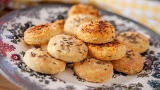 Очень вкусное СЫРНОЕ ПЕЧЕНЬЕ сырные крекеры простой рецепт Cheese Cookies