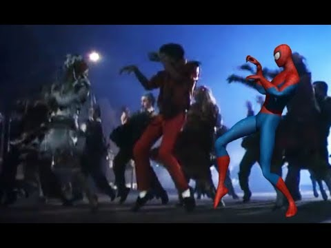 Thriller with.... SpiderMan! Dancing in sync with Michael Jackson