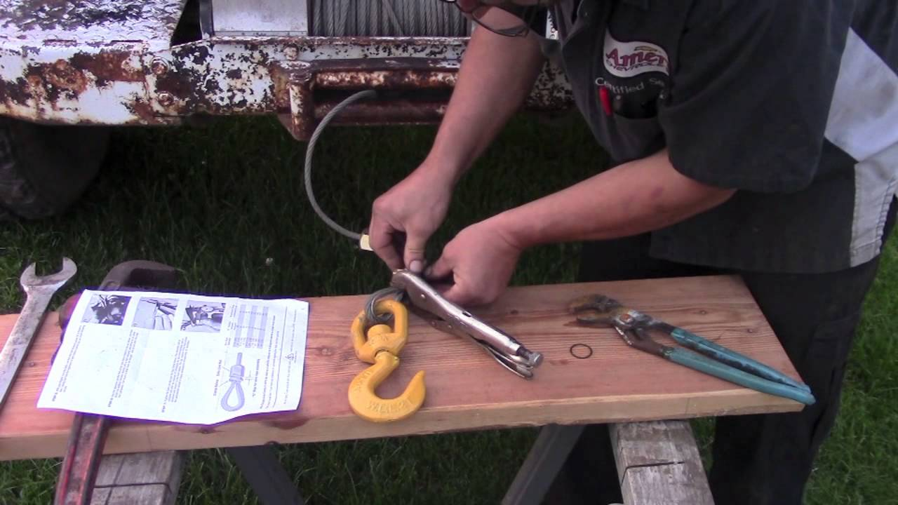 Winch Cable Repair By Bsf Recovery Team Youtube