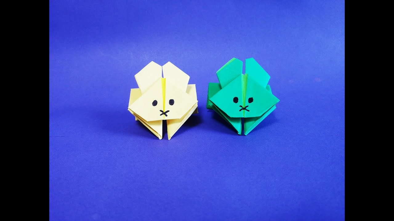 How To Make Paper Origami Jumping Rabbit