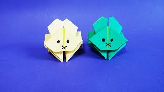 점프 토끼 종이접기 How to Make Paper Origami Jumping Rabbit