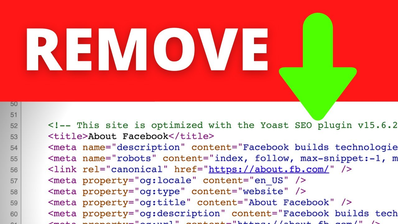 """How to remove """"This site is optimized with the Yoast SEO plugin"""" comment in WordPress"""