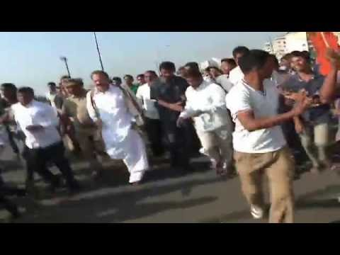 Union Minister of Urban Development Muppavarapu Venkaiah Naidu Run at Beach Road