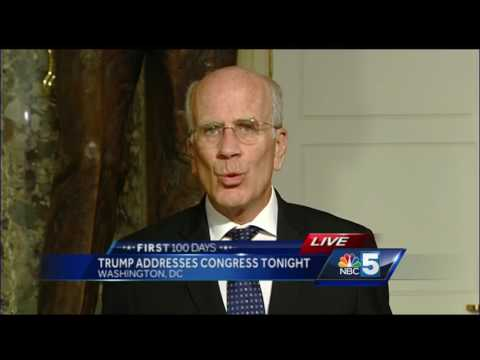 Rep. Peter Welch speaks with Stewart Ledbetter ahead of Trump