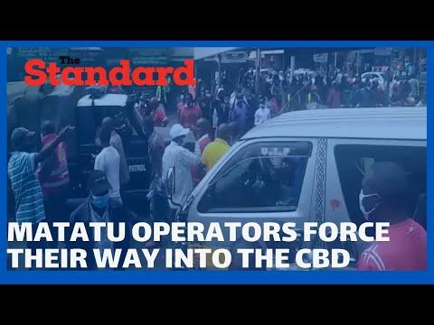 Drama as matatu operators defy Governor Lee Kinyanjui, force their way into Nakuru CBD