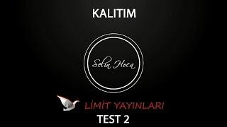 57) Limit Yayınları - Kalıtım - Test #2