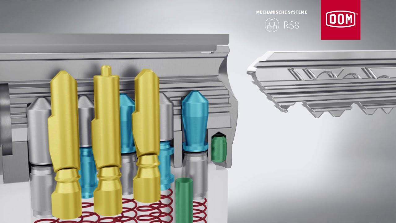 DOM RS8 Schließzylinder Profilzylinder Schließanlage