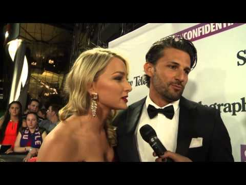 'The Bachelor' Tim Robards & Anna Heinrich at the Dally M awards