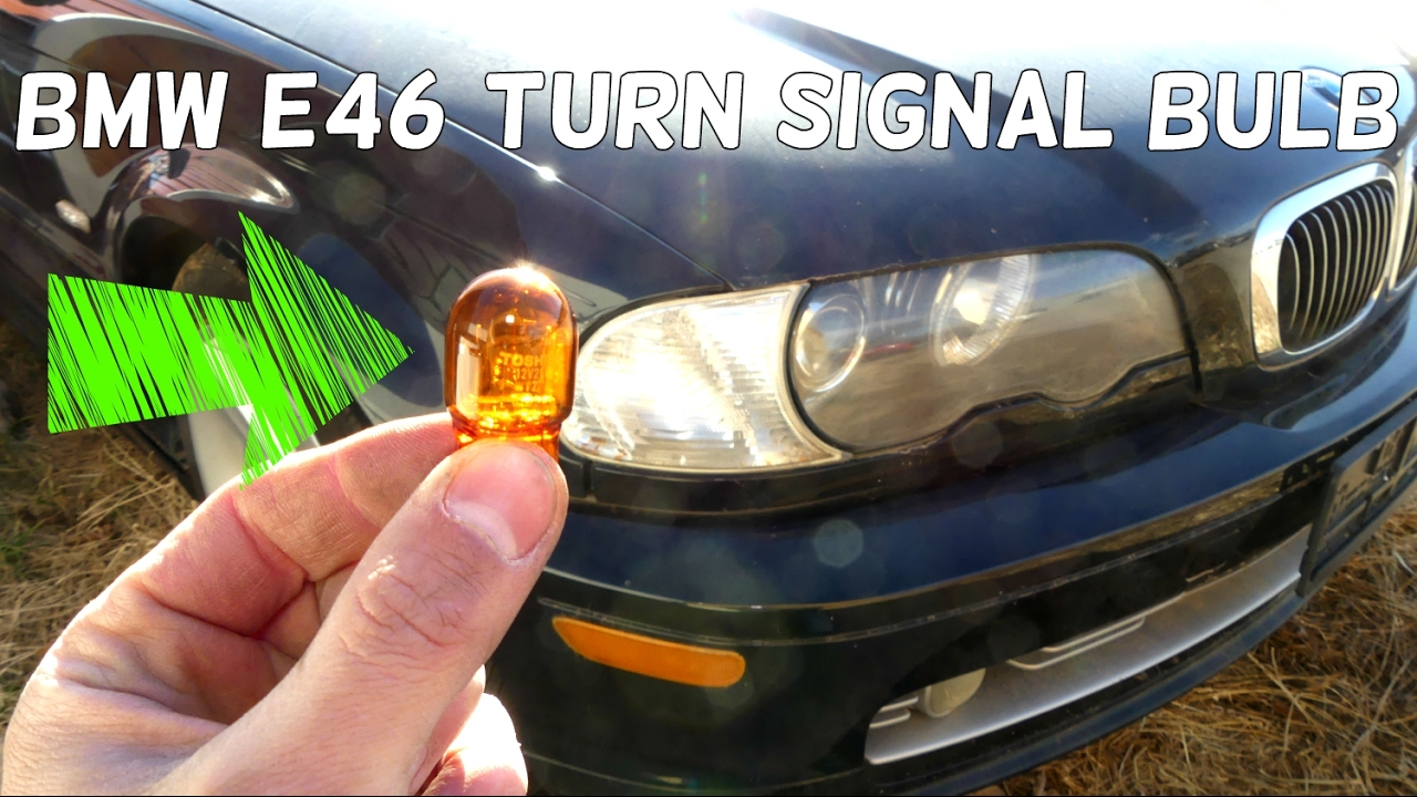 BMW E46 FRONT TURN SIGNAL LIGHT BULB REMOVAL REPLACEMENT