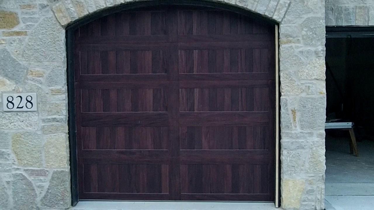 Chi accents mahogany 8x7 9 garage door r value 8 9 napervilleil