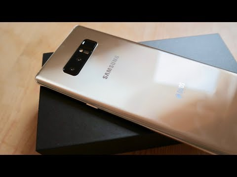 Unboxing the Samsung Galaxy Note 8 - Maple Gold