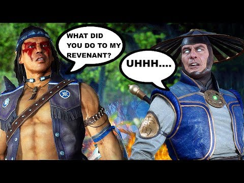 Nightwolf Wants To Know Where Revenant Nightwolf Is Scene - Mortal Kombat 11 & Mortal Kombat 9