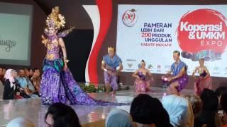 Kencono Wungu - Show Opening Indonesia Fashion Culture 13 Agustus 2016 - Duta Batik Jawa Timur