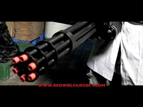 Redwolf Labs: Vulcan M134 Minigun VS Watermelon - RedWolf Airsoft - RWTV