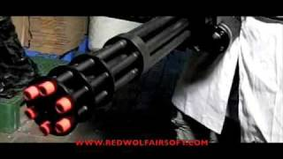 Redwolf Labs: Vulcan M134 Minigun VS Watermelon - RedWolf Airsoft - RWTV