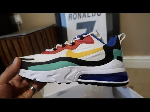 NIKE AIR MAX 270 REACT BAUHAUS UNBOXING AND REVIEW,