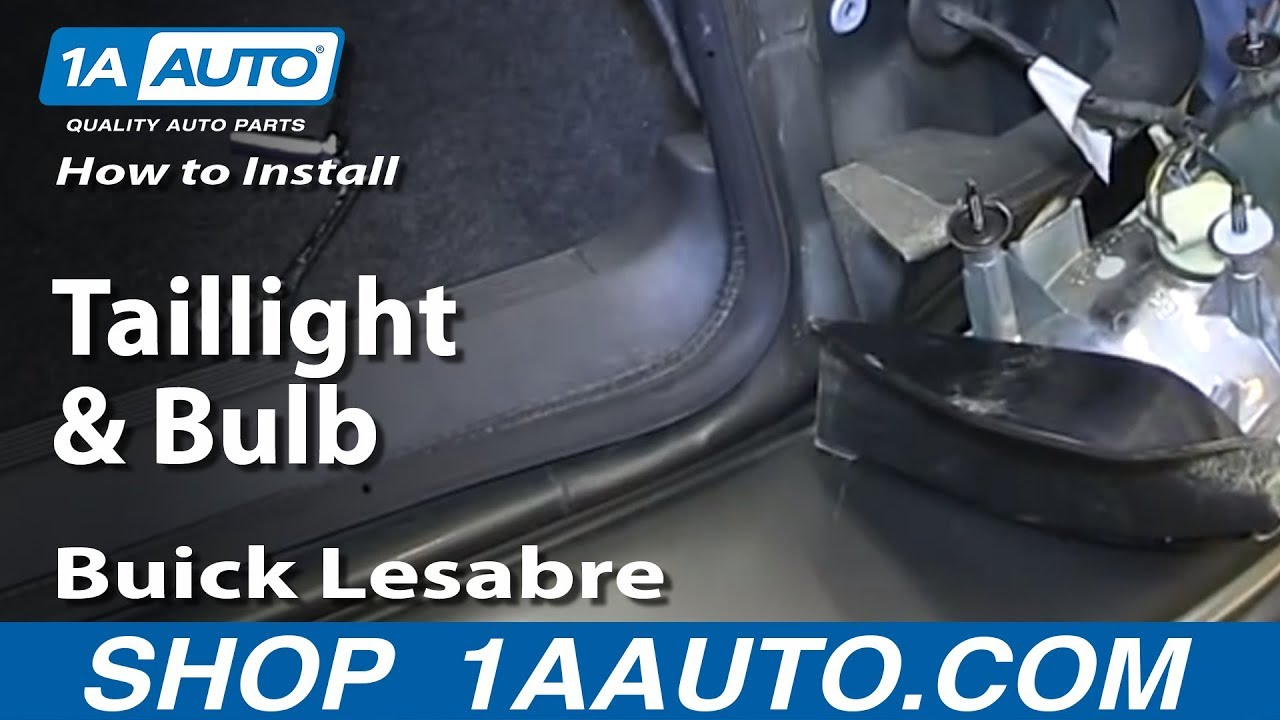 how to replace taillight bulb 93 97 buick lesabre [ 1280 x 720 Pixel ]