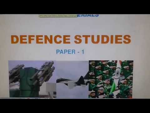 UPPCS Main Defence Studies sample
