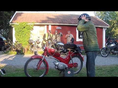 Sweden Walks, Very Old Men With Mopeds. Mycket Mogna Män Med Mopeder
