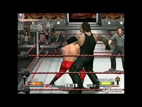 WWE Day of Reckoning GameCube Gameplay - Benoit takes a