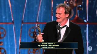Quentin Tarantino Wins Original Screenplay: 2013 Oscars