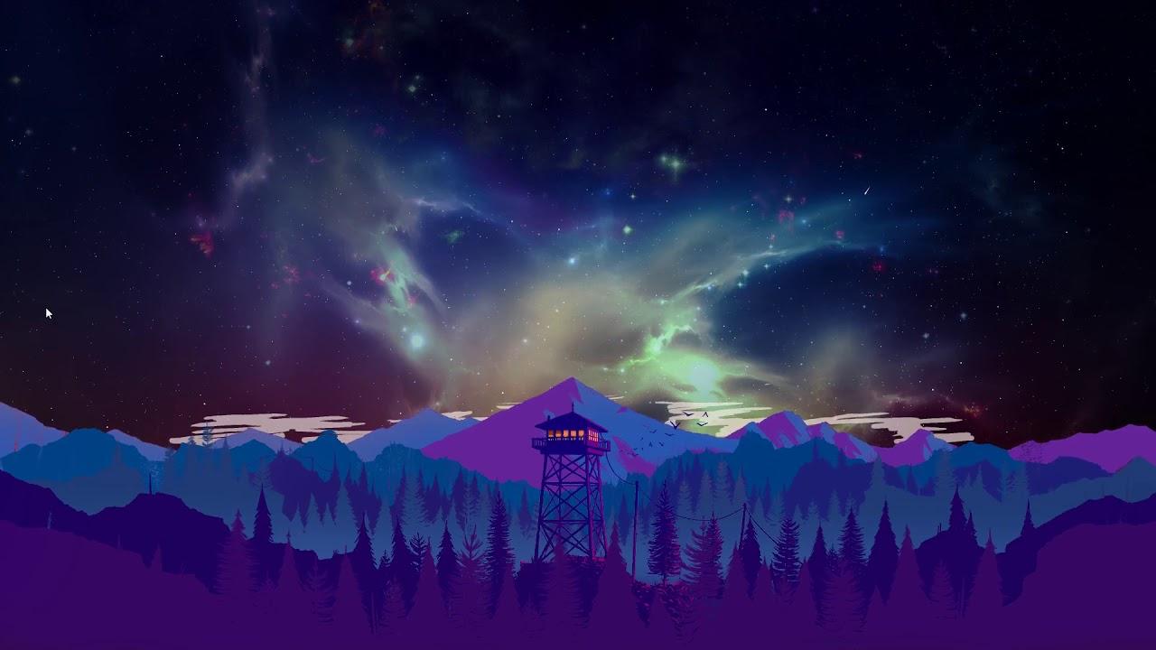 Night Landscape Firewatch Audio Wallpaper [ custom background ]