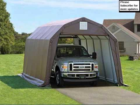 Garage Design Pics Collection  Portable Shelters And Garages  YouTube