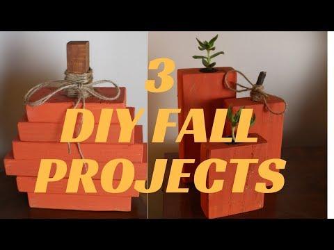 3 Fall Halloween Wood DIY Projects