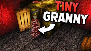 TINY GRANNY USING THE GIANT CHEAT! (Granny Mobile 1.4 Update APK Mod Gameplay)
