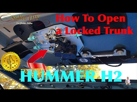 How To Open a Locked Trunk | HUMMER H2 Lift-gate Won't Open